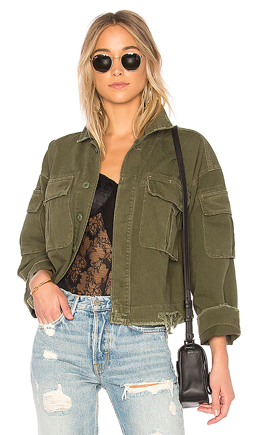 DORIAN OVERSIZED CROP ARMY JACKET