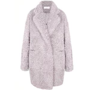 lilac teddy coat