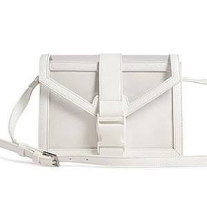 transparent faux leather crossbody bag