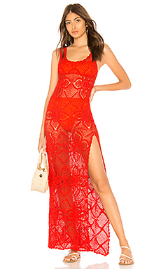 red RILEY crochet DRESS