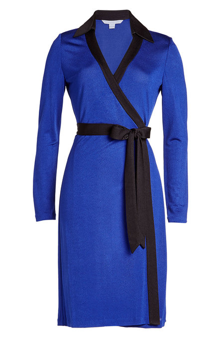 blue DIANE VON FURSTENBERG Belted Dress