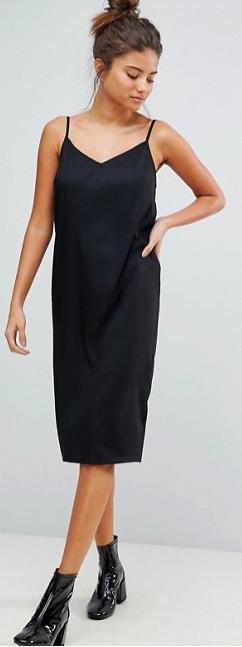 ASOS FULLER BUST Cami Midi Slip Dress