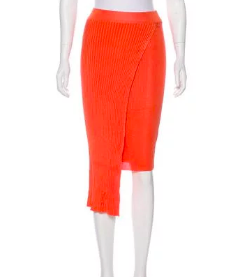 RONNY KOBO KNITTED MIDI SKIRT