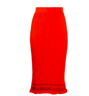 ALTUZARRA  Gwendolyn ribbed-knit midi skirt
