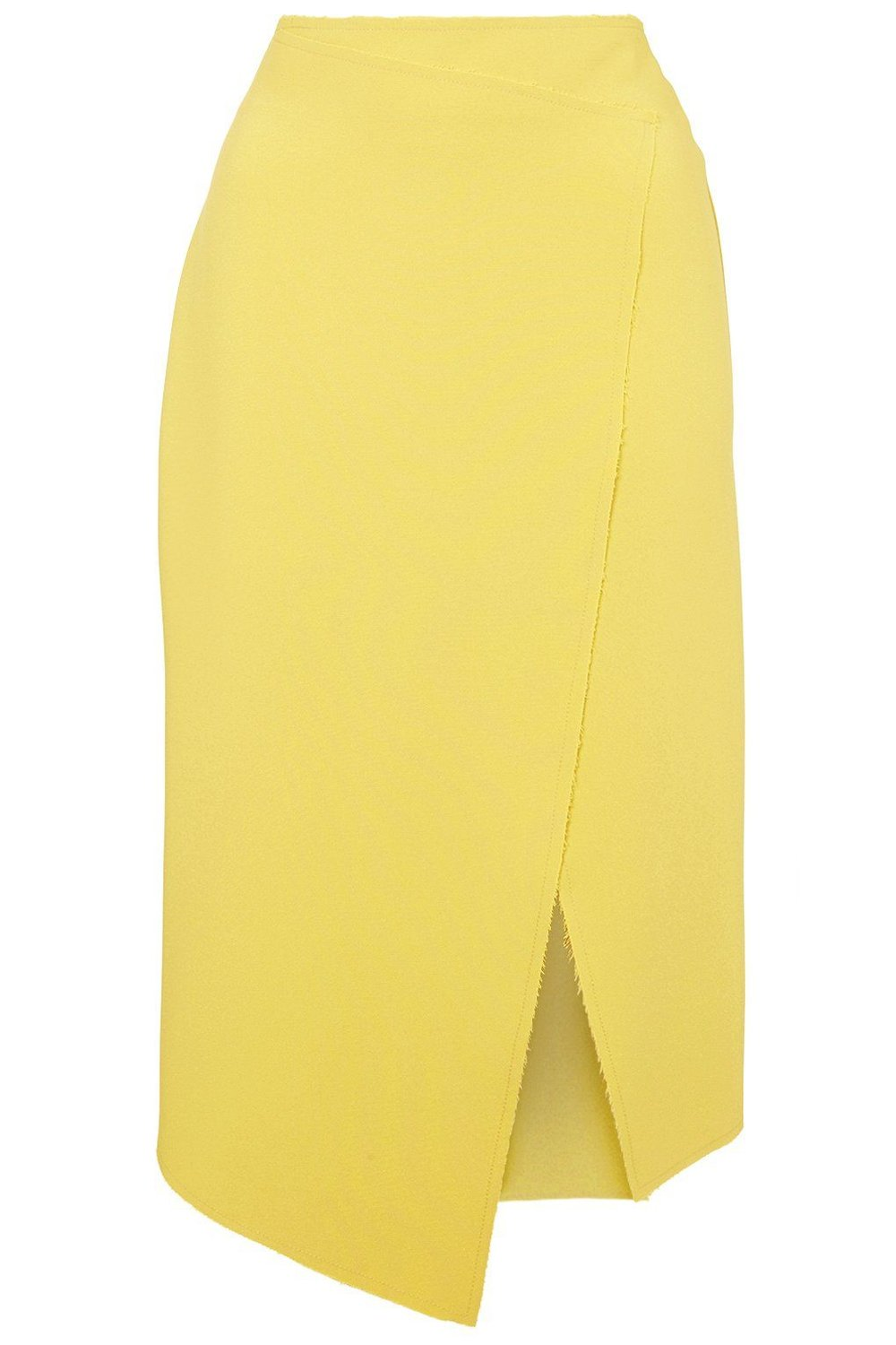 Crepe Wrap Midi Skirt