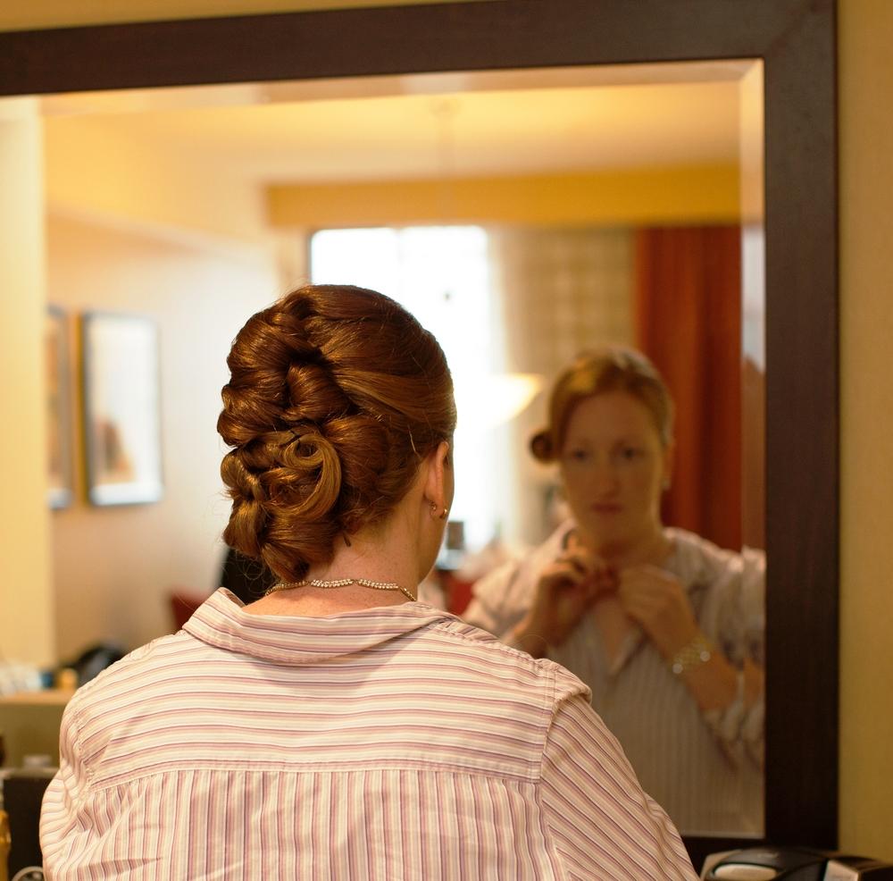 Erin Moran bridesmaid in mirror.jpg
