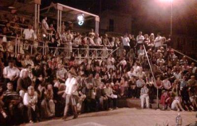 This was one of the most amazing events I have ever had the pleasure to participate in. The village's square was filled with people -old and young - until 2 in the morning to hear about nanomedicine. (2009)
