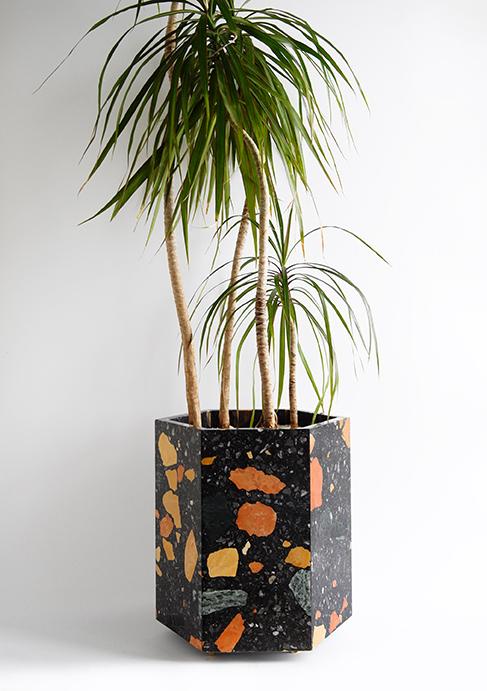 Black Marmoreal Stone Planter.jpg