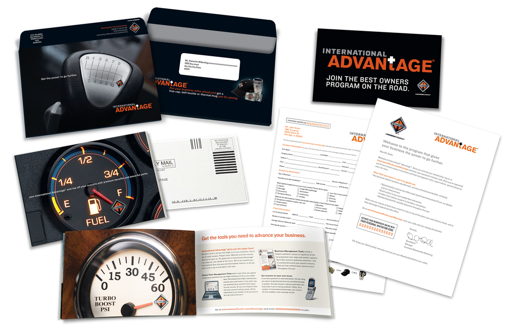 Direct mail contained a personal code, brochure and a personalized letter.