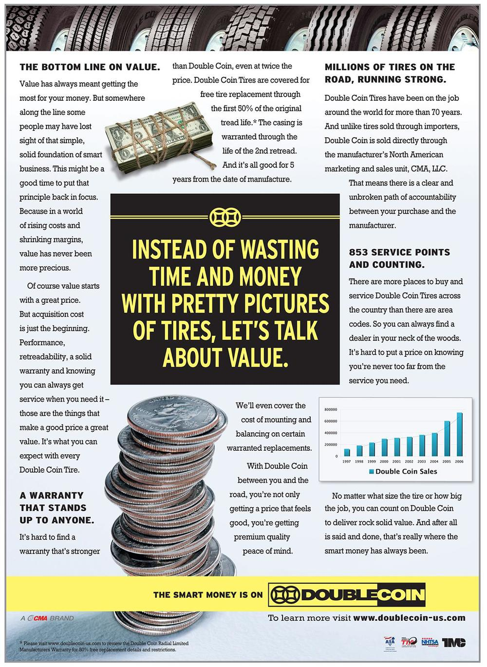 Double Coin truck tires are much more than a less expensive alternative.