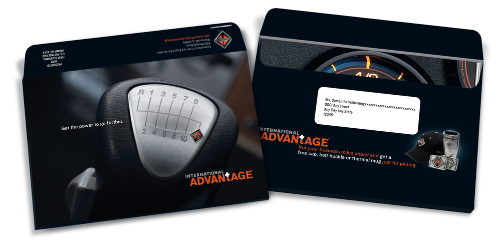 "Direct mail designed to drive enrollment. ""Get the power to go further."""
