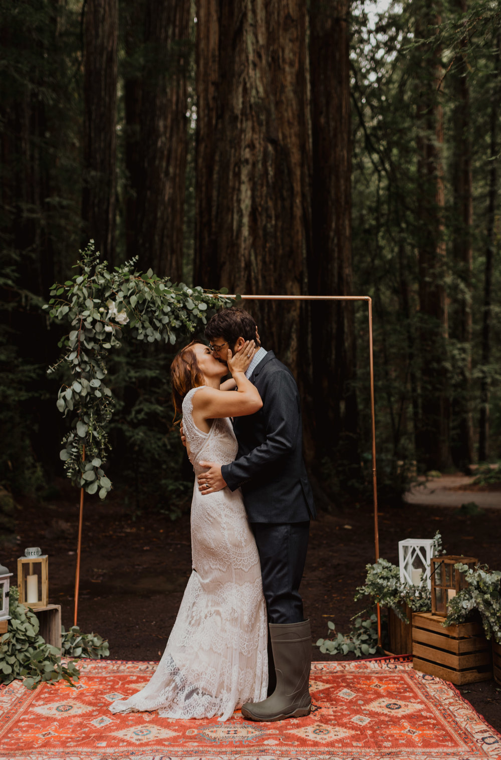 3b3c9d2f0c12c Jenni & Otto // Intimate Wedding in the Redwoods