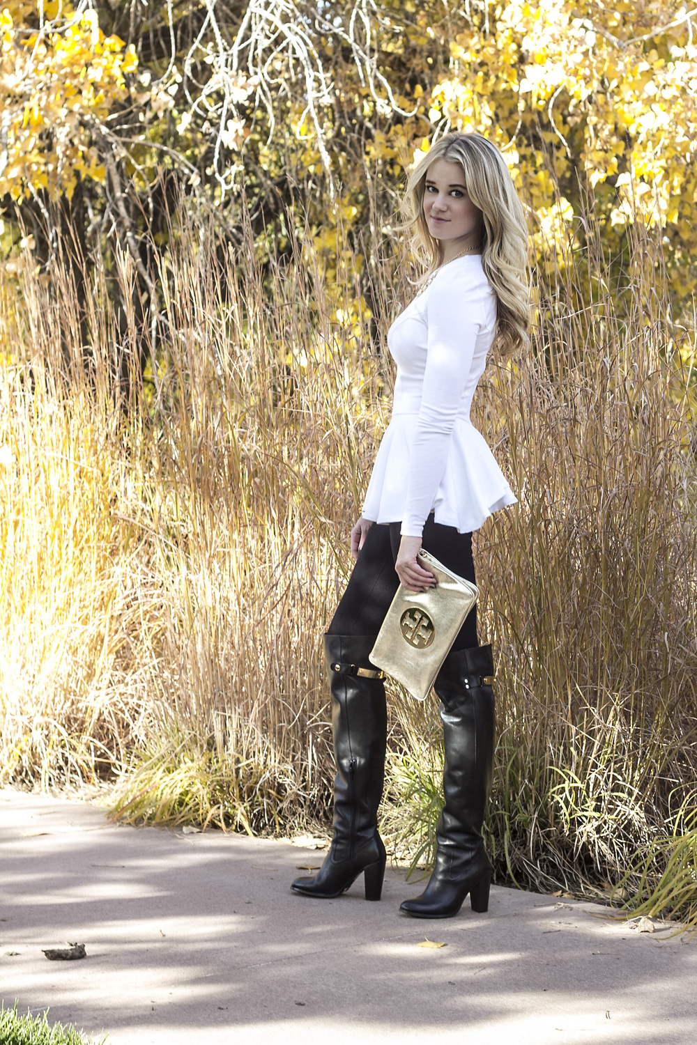 { taste bluebook ll over the knee boots and peplum }