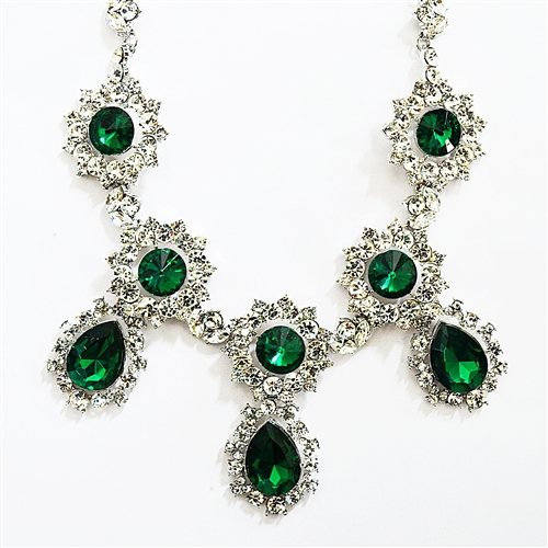 Shamelessly Sparkly ll Emerald Drop Necklace