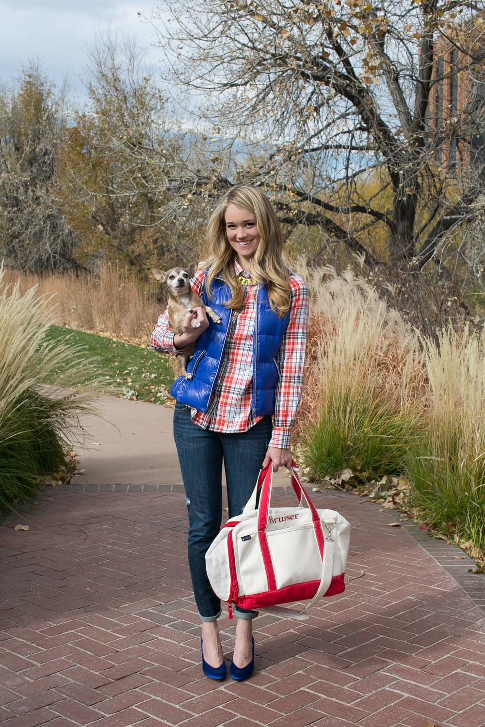 Taste Bluebook ll Bruiser & Plaid ll Full Length with Bag.JPG