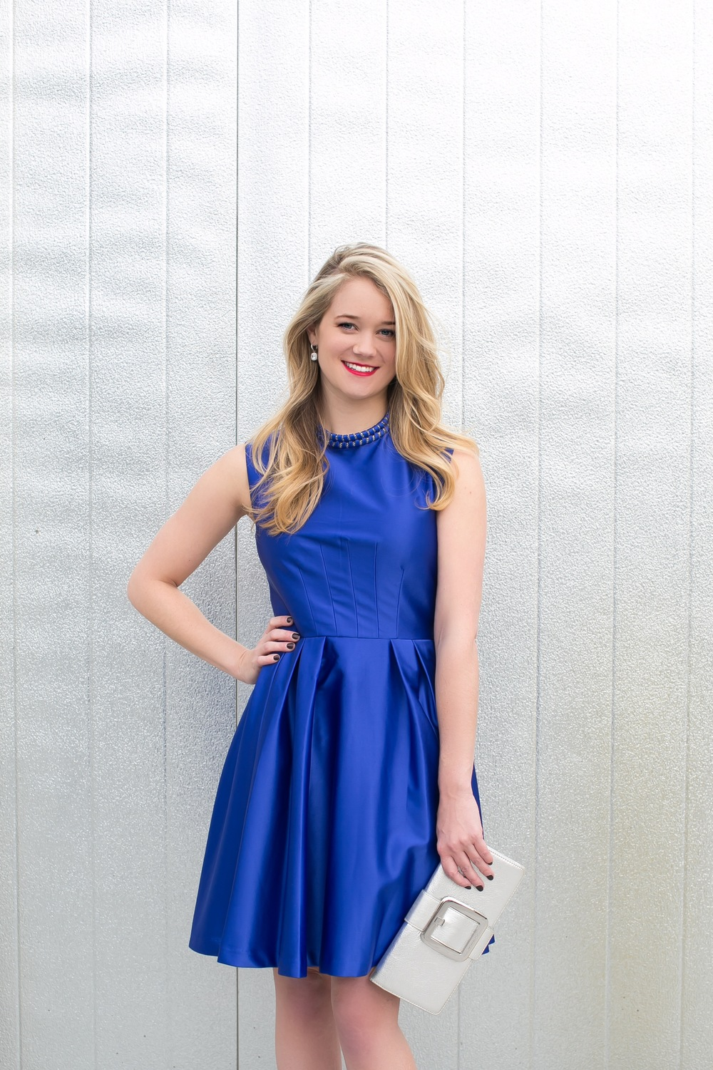 Blue holiday cocktail dress – Womans wallet and dresses
