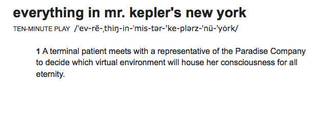 Everything in Mr. Kepler's New York