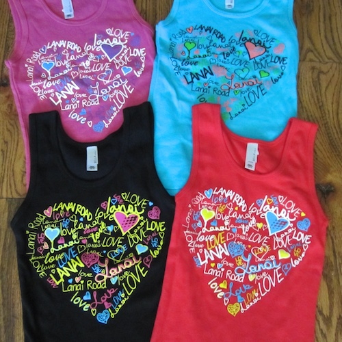 Love Lanai girls tank topm $15 mYouth S-XL Black, turquoise, purple, pink 100% cotton