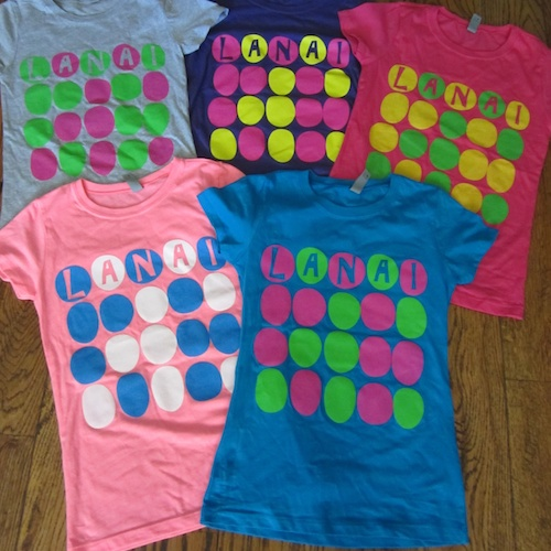 Multi-circle girls t-shirt, $15 ,Youth S-XL Pink, purple, turquoise (100% cotton), Neon pink (60% cotton, 40% polyester)