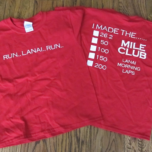 Run Lanai Run t-shirt , $15, Youth XS-L   Red 100% cotton