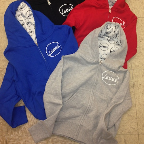 Sweatshirts, $35 Youth S-L black, red, grey, royal blue Adult S-XL black 55% cotton, 45% polyester