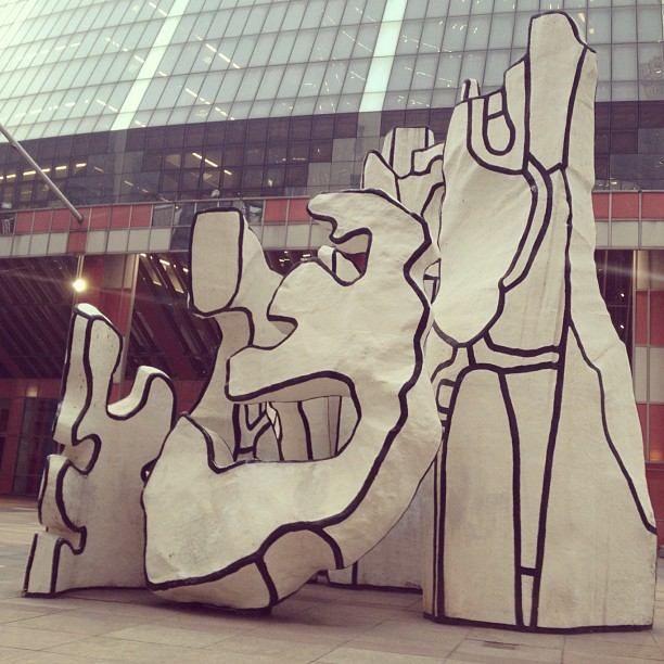 Monument with Standing Beast -J. Dubuffet (Taken with  Instagram  at James R. Thompson Center)
