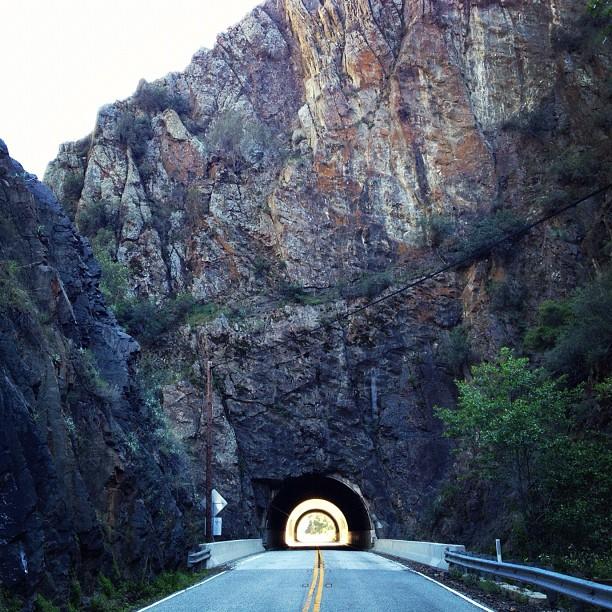 Drivin through Mt. rock. (Taken with  instagram )