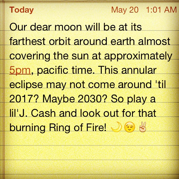 Annular solar eclipse! (Taken with  instagram )
