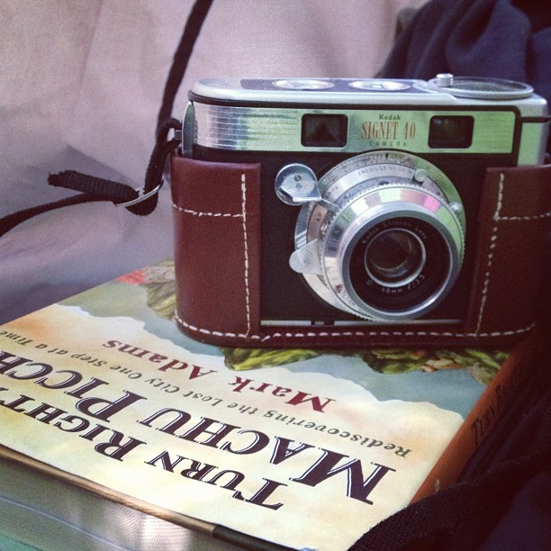 1956: kodak Signet released & Hiram Bigham III expired, founder o the Picchu. (Taken with  instagram )