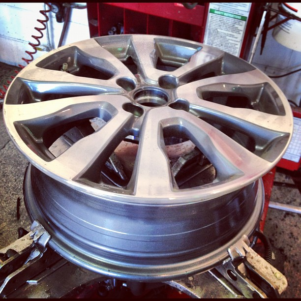 My wheel thing! Scored fast n free service ;0).  (Taken with  Instagram  at America's Tire)