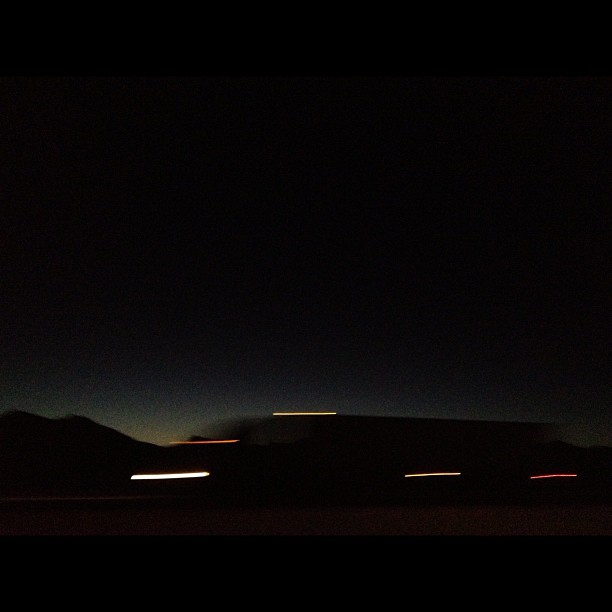 Desert speed. (Taken with  Instagram )