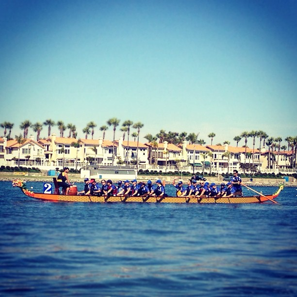 Go team Kuya! That dude in yellow is my big brother. (Taken with  Instagram  at Dragon Boat Races @ Marine Stadium, Long Beach CA)