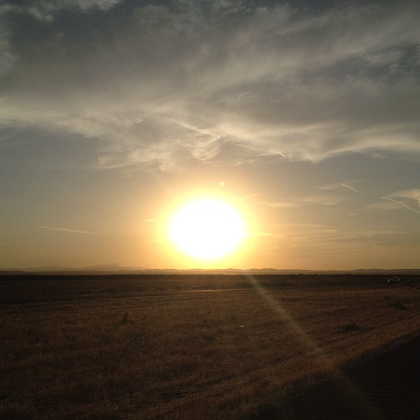 Sunsettin on the road again. (Taken with  Instagram )