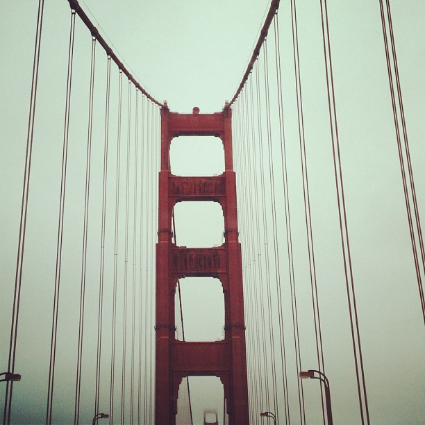On the road to wine country. (Taken with  Instagram  at Golden Gate Bridge)