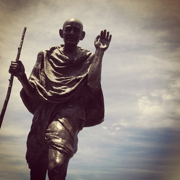 """""""The path is the goal."""" -Mahatma G.  High five MG! (Taken with  Instagram )"""