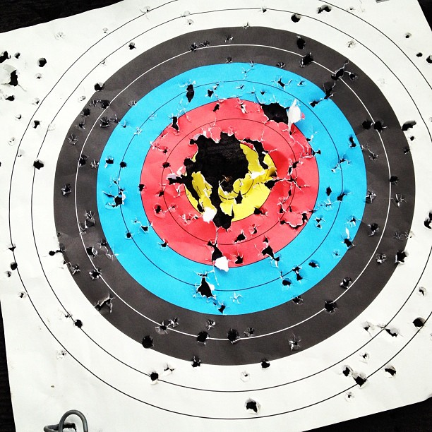 Bullseye. (Taken with  Instagram )