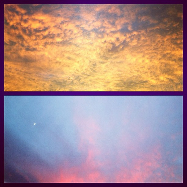 Today's sunrise and sunset.  (Taken with  Instagram  at Mia casa)
