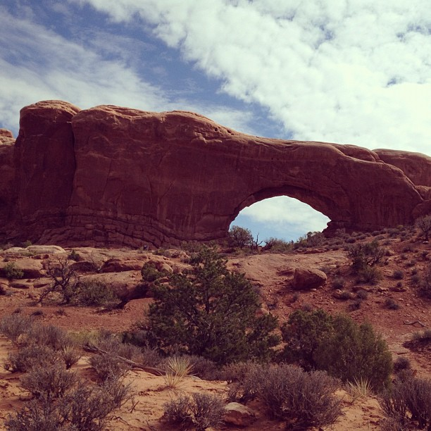 …and Turret Arch. (Taken with  Instagram )