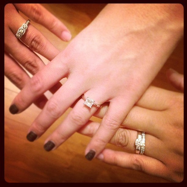 Bling, bling, blings! My friends got ringed! @rinarox @mcalilan @tinarn616 💍💍💍