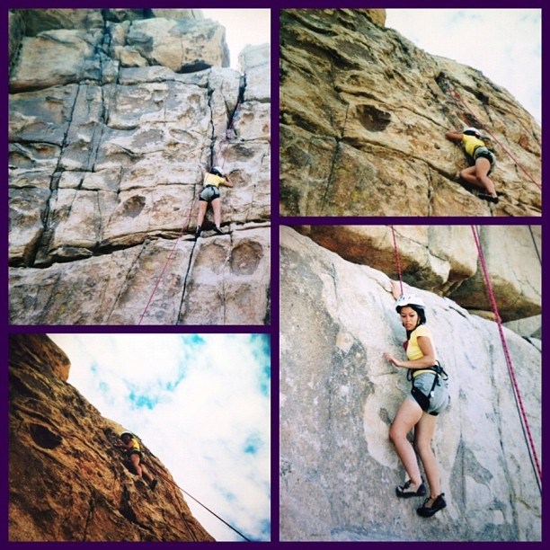 Ten years ago. Throwback on film!   I will never ever forget my very first camping trip-in college. My freshman year at CSULB, I joined the Outdoor Adventures Club and on our first camping trip, we went rock climbing at Joshua Tree National Park. I didn't know anyone until the after the trip…carpooling, camping out, boulder hopping, hiking, climbing, and stargazing on rocks-simply through great conversations outside. One of my best decisions ever!