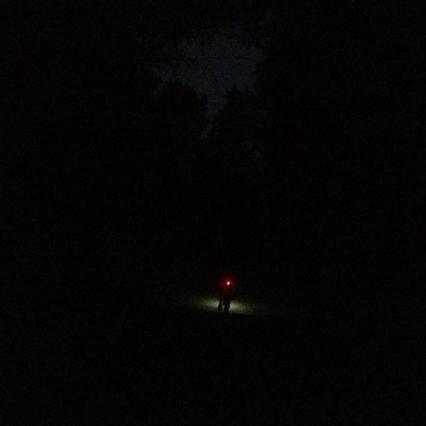 Remind me to bring my headlamp next time. 😳 #bikelightsbling (at Wilacre Park)