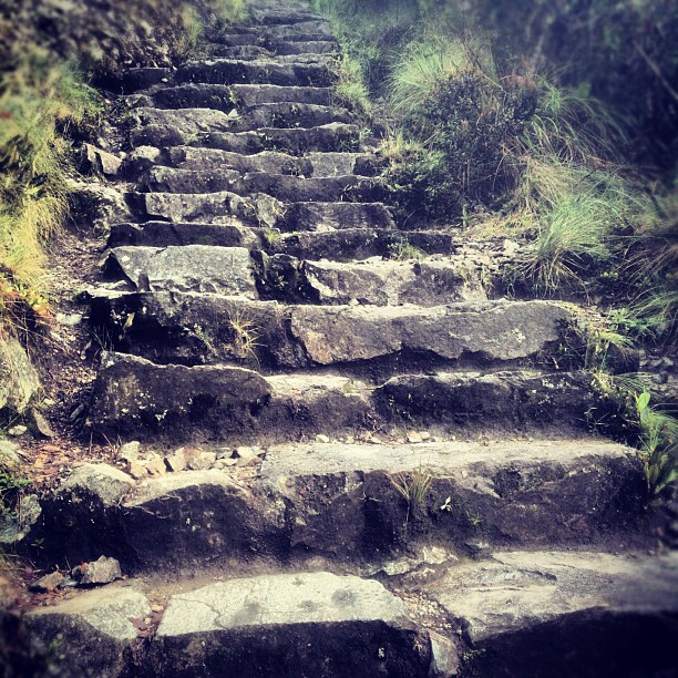 One day at a time turned into one step at a time. #incatrail