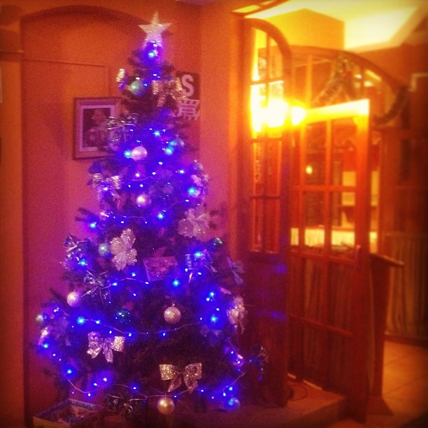 Blue Christmas. #cuscoperu  (at Prisma Hotel de Cusco)