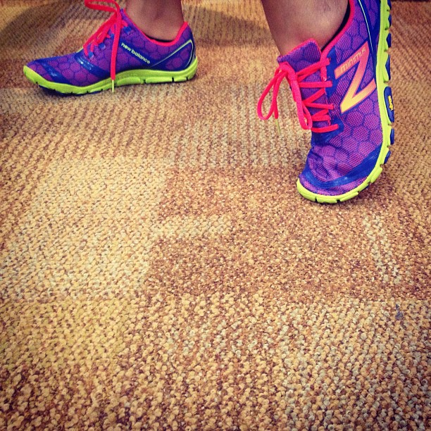 """""""Give a girl the right shoes and she can conquer the world."""" -Marilyn Monroe @purpleluv6  (at New Balance)"""
