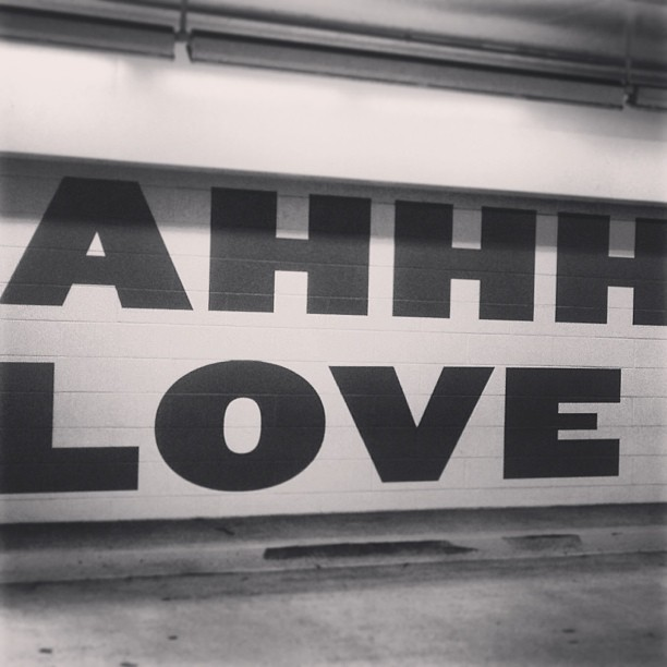Love is patient, love is kind…Love is crazy, love is blind! Ahh, love. #typography #garageart #love