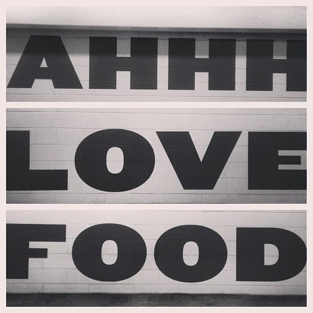 Ahh 💚food. #typography #iloveparking #garageart #giaadventures