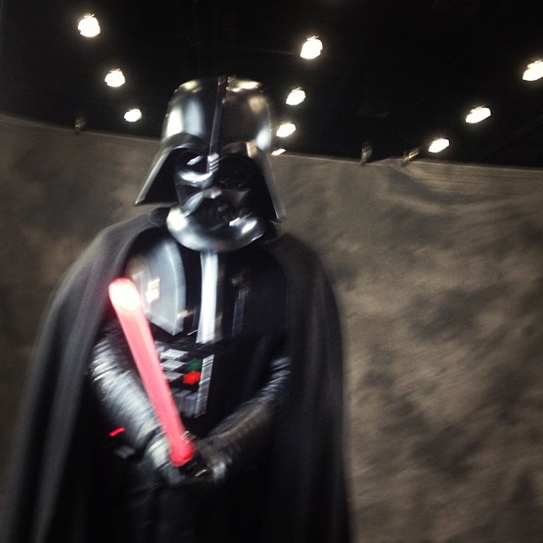 Darth Vader in action. #iphone4s