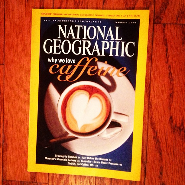 Lovely cover! #lovely #nationalgeographic #jan2005 #latteart  #sweetgraphicdesign