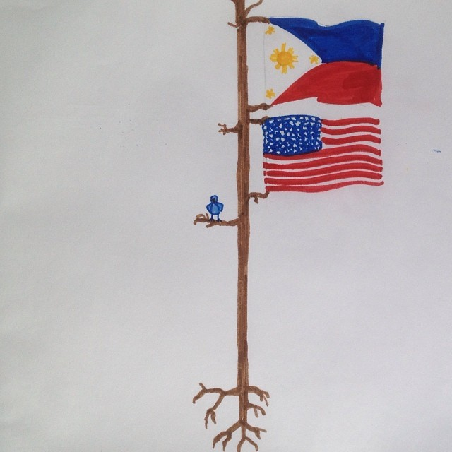 Thoughts and prayers, love and hope. #tacloban #haiyan #veteransday #roots #agiasketch #prismacolor