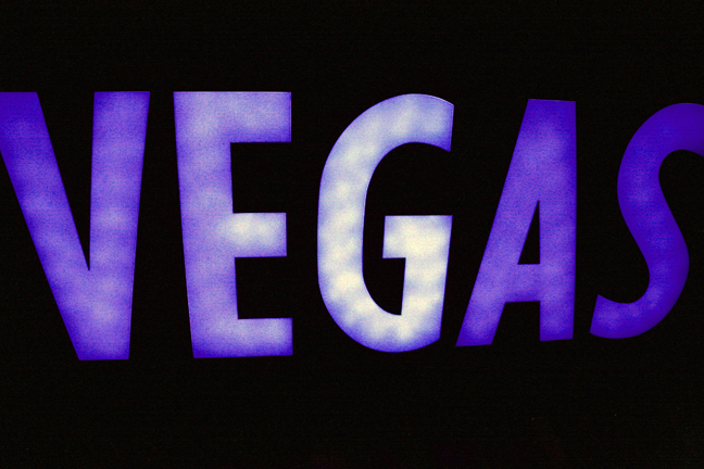 Baby, Vegas baby. Baby, Vegas type shot. Altered levels, hue and saturation a bit. Purple is royal as Vegas is royal flush.